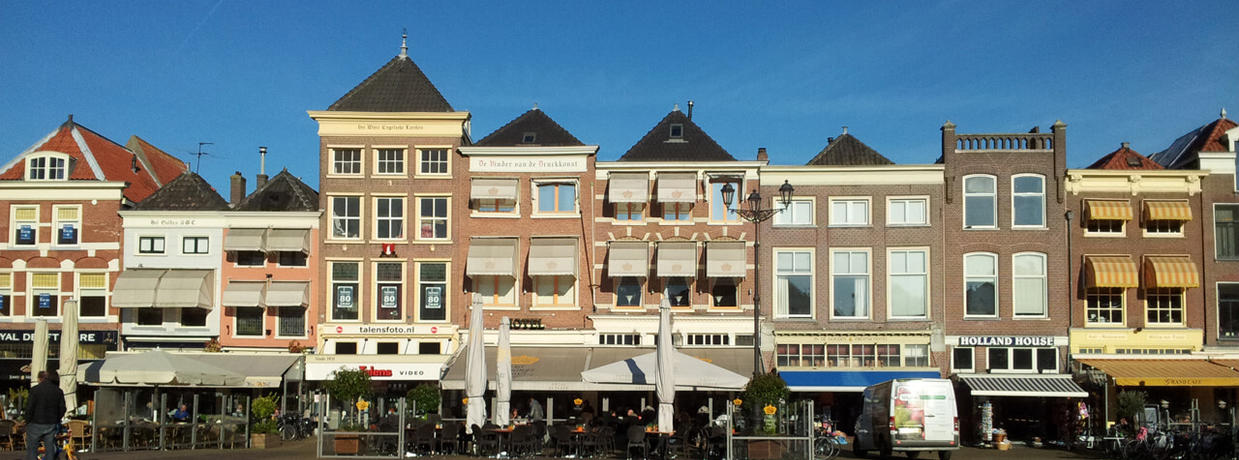 Buildings at town square Delft