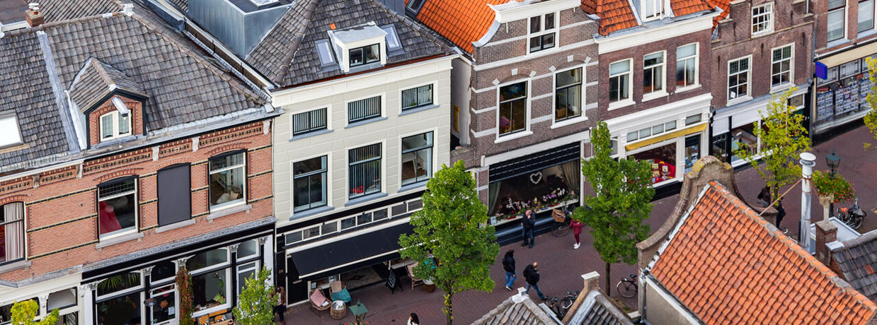 Shopping area in Delft