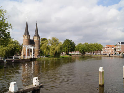 View at the Oostpoort (East gate)