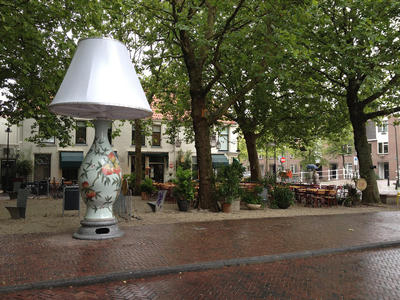 Art on a square in Delft