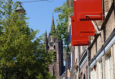 View at the Old Church - Daytrip: How about a day out in Delft?